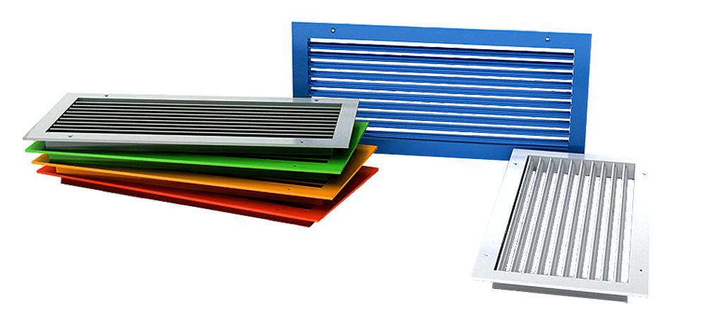 Вентиляционные алюминиевые решетки
